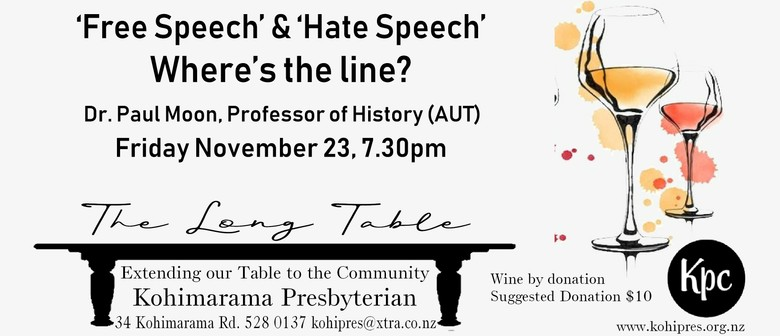 Free Speech & Hate Speech - Wine Tasting and Discussion: POSTPONED