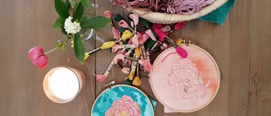 Floral Embroidery workshop with Fleur Woods