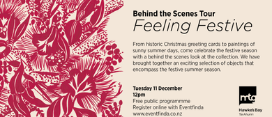 Behind the Scenes Tour - Feeling Festive: CANCELLED
