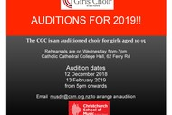 Image for event: Christchurch Girls Choir - Auditions