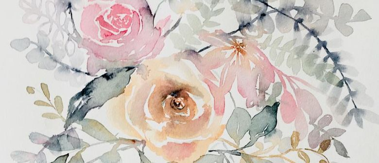 Modern Watercolour Florals Beginners Watercolour