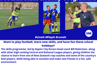 Image for event: Napier City Rovers Football Skills Summer Programme