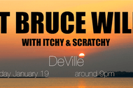 Image for event: Not Bruce Willis with Itchy & Scratchy
