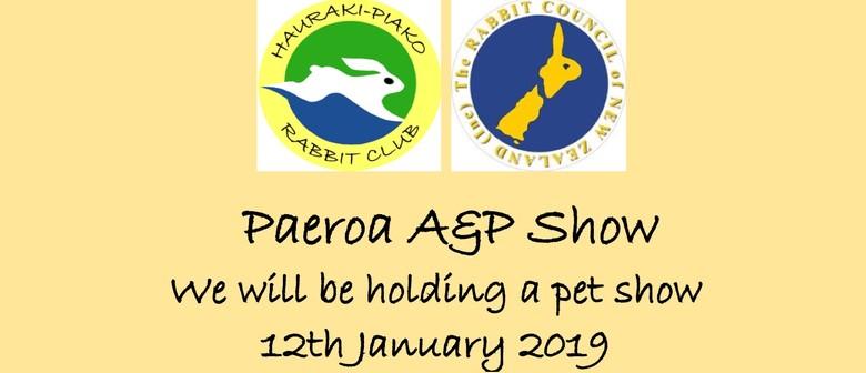 Hauraki-Piako Rabbit Club Pet Show - Paeroa A&P Show