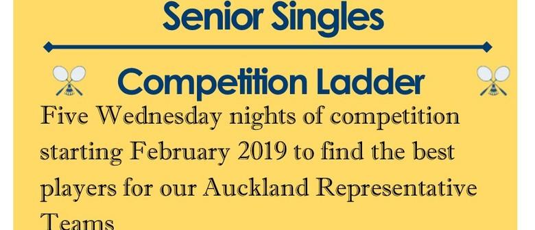 Senior Singles Ladder 2019