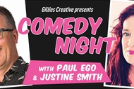 Image for event: Comedy Night with Paul Ego & Justine Smith