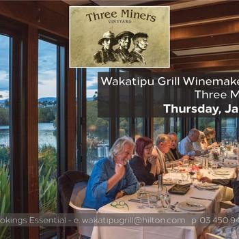 Three Miners Vineyard Winemakers Dinner