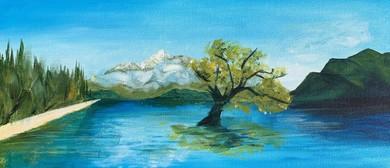 Paint and Wine Night: That Wanaka Tree - Paintvine