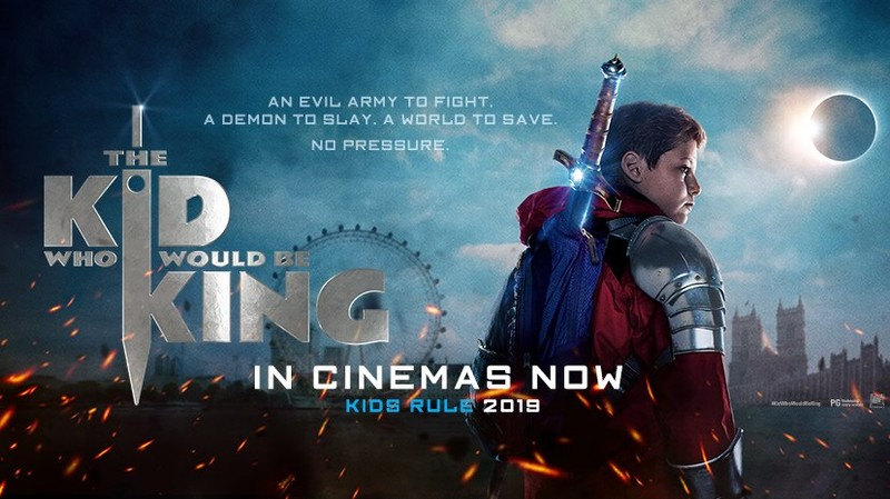 Image result for the kid who would be king poster