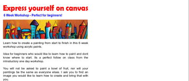 Express Yourself On Canvas - 6 Week Workshop