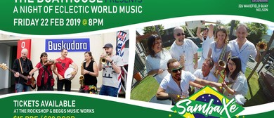 World Music with SambaXé & Buskudara