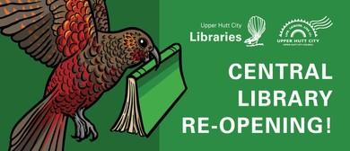 Upper Hutt Central Library Re-opening