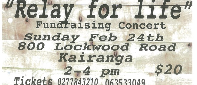 Relay For Life Fundraising Concert
