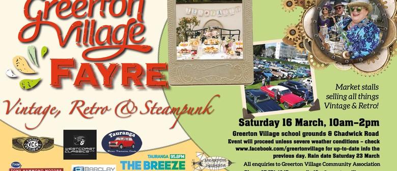 Greerton Village Fayre, Vintage, Retro & Steampunk