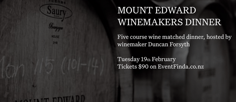 Mount Edward Winemakers x Williams Eatery Dinner