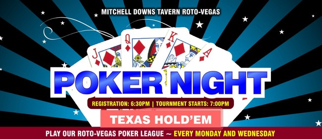 Poker Night – Texas Hold'em Tournament: CANCELLED