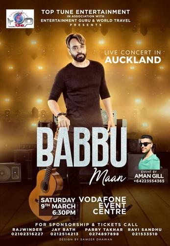 Babbu Maan Live in Auckland - Auckland - Eventfinda