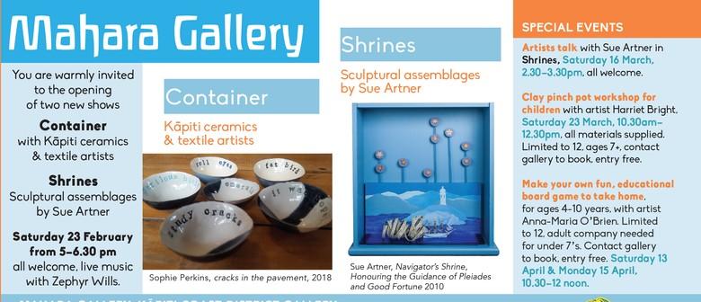 Container: Kapiti Artists, Shrines: Sue Artner