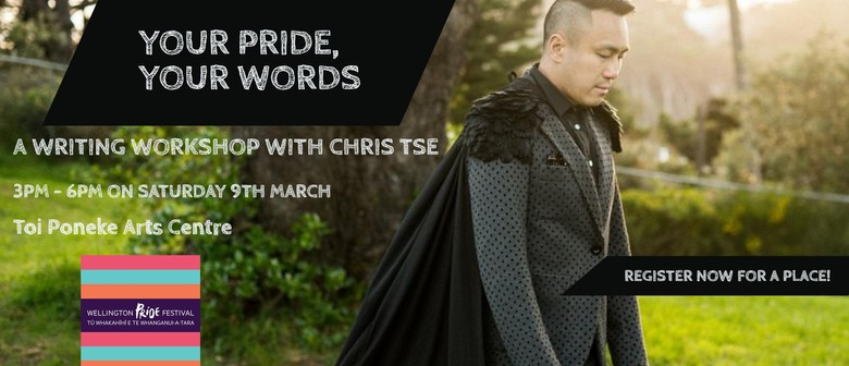 Your Pride, Your Words - A Writing Workshop with Chris Tse