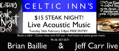 Celtic Inn's Steak Night with Acoustic Music