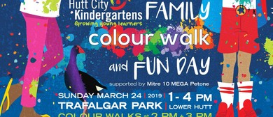 Hutt City Kindergartens Family Colour Walk and Fun Day