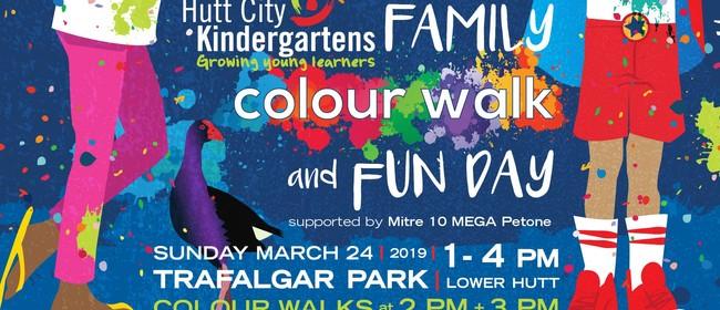 Hutt City Kindergartens Family Colour Walk and Fun Day