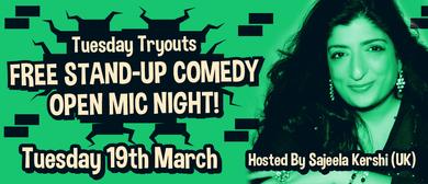 Stand-Up Open Mic Night Hosted by Sajeela Kershi (UK)