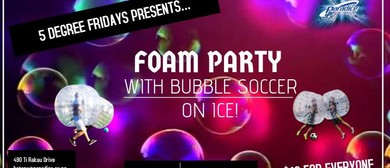 Foam Party with Bubble Soccer on Ice
