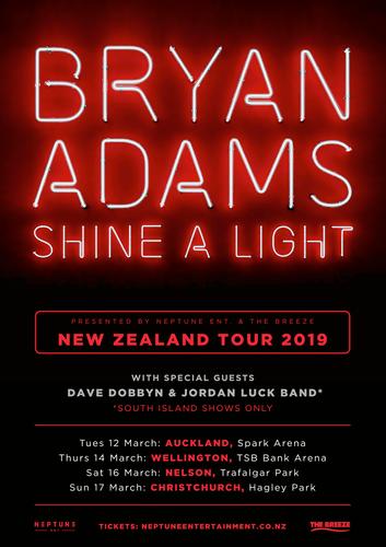 Bryan Adams - Shine A Light Tour - Wellington - Eventfinda