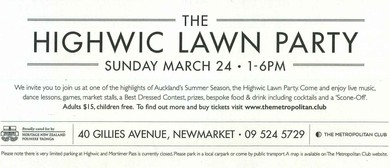 The Higwic Lawn Party