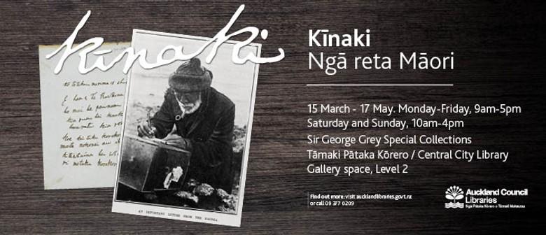 Kīnaki: Ngā reta Māori