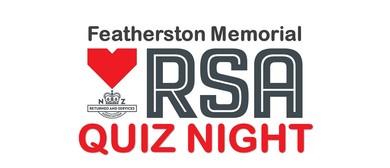 Featherston Memorial RSA Quiz Night