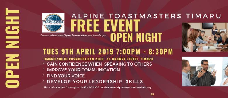 Open Night Alpine Toastmasters