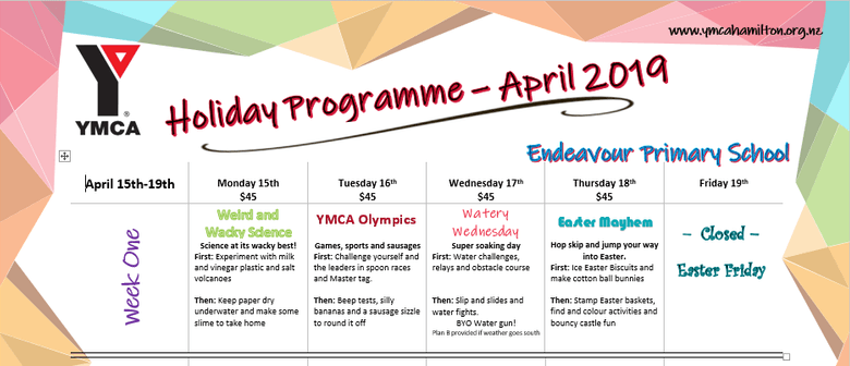 YMCA April Holiday Programme