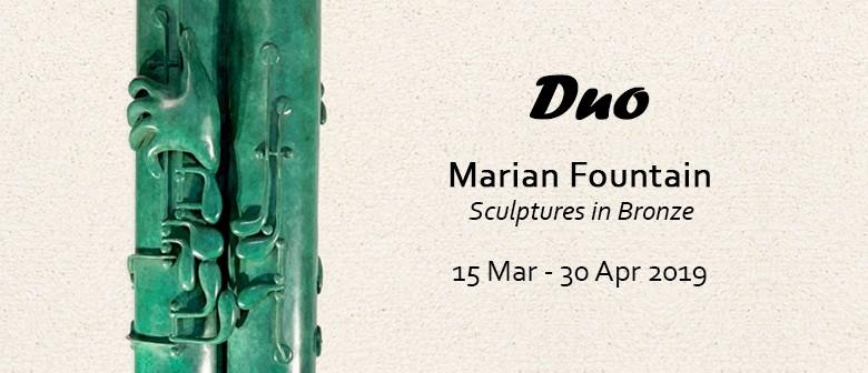 Duo - Marian Fountain - Sculptures In Bronze