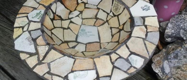 Create a Mosaic Bird Bath