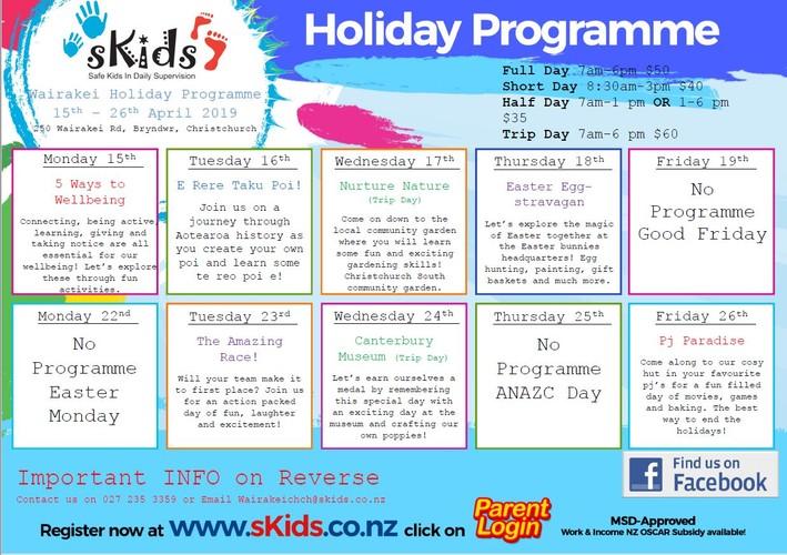 April School Holiday Programme - Christchurch - Eventfinda