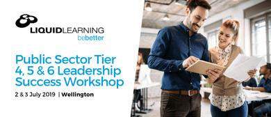 Public Sector Tier 4, 5 & 6 Leadership Success Workshop