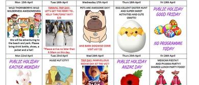 April 2019 School Holiday Programme