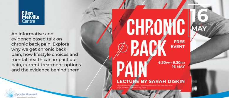 Chronic Back Pain - Lecture & Advice by Sarah Diskin