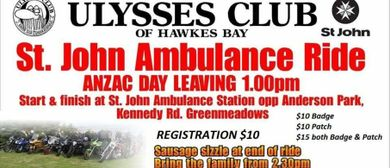 Ulysses Club Hawkes Bay St John Ambulance Ride