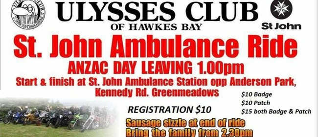Ulysses Club Hawkes Bay St John Ambulance Ride