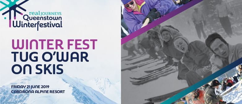 Winter Fest Tug 'o war on Skis
