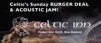 Celtic's Sunday Burger Jam – Open Mic/Jam