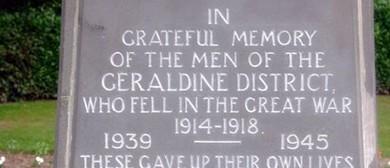 Geraldine RSA ANZAC Day Civic Service