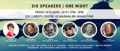 Get Inspired - Six Speakers - One Night