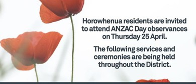 ANZAC Day Manakau Special Memorial Service