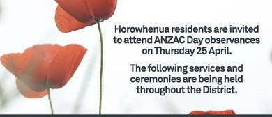 ANZAC Day Tokomaru Civic Ceremony