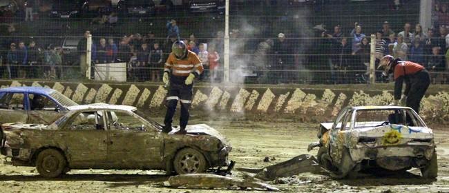 Demolition Derby & 2018/19 Sprintcar King of Cromwell