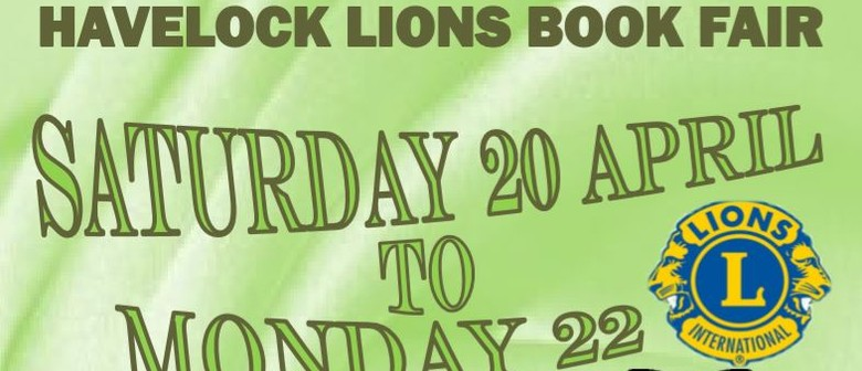 Havelock Lions 3-day Book Sale